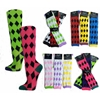 Womens Knee High Computer Argyle Socks
