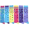 Women'S Novelty Knee-High Socks - Dots and Stripes