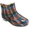 Women'S Rain Boots - Plaid Print
