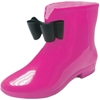 Women'S Rain Boots - Solid Colors With Bow Adornment