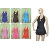 Women'S One Piece Halter Top W/ Skirt Bottom Swimsuits