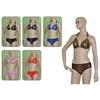 Halter Top W/ Metallic Prints Women'S Bikini Swimsuits