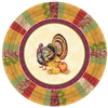 Fall Turkey 10.25'' Round Paper Plates