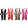 Women'S Tie Dye Cover-Ups With Mini Pom Pom Trim