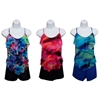 St. Tropez Women'S Tankini Swimsuits With Printed Ruffle Tops and Solid Boy Shorts