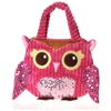"8.5""X10"" Girly Pink Owl Hand Bag"