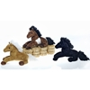 "9"" 3 Assorted Color Laydown Horses - Brown"
