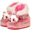Plush Pink Panda Boots - Adult Size