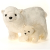"""11"""" L Standing Polar Bear With Baby"""
