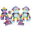 "Sunny - 19"" 2 Assorted Rainbow Monkeys"
