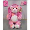 "11"" Sitting Pink Swirl Tablet Bear"