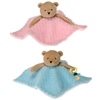 "10"" 2 Assorted Pacifier Blanket Holder Bear"