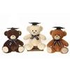 "12.5"" 3 Assorted Graduation Bears - Creme"