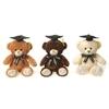 "9"" 3 Assorted Graduation Bears - Creme"