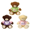 """9.5"""" 3 Assorted Bears With Mother'S Day Shirt"""