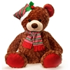 """24"""" Sitting Christmas Brown Bear With Red Trims"""