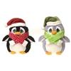 """8"""" Glittered Eyes Christmas Penguins"""