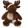 "15"" Sitting Dark Brown Moose With Christmas Hat"
