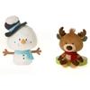"""8.5"""" B/B Christmas Moose And Snowman"""