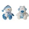 "10"" Christmas White Bear And Snowman"