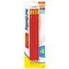 4 Count Red Pre-Sharpened Pencils With Erasers