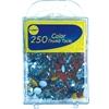250 Pack Colored Thumb Tacks