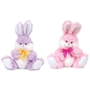 "10"" Plush Spring Easter Bunny With Satin Ribbon"