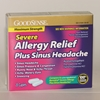 Good Sense Allergy Relief Plus Sinus Headache Severe