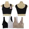 Ladies Seamless Black Sport Bra, Medium