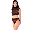 Floral Lace Bodysuit- 2 Piece Set