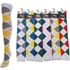 J.Ann Ladies Argyle Design Knee-High Socks, Size 9-11