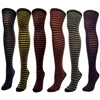 "J.Ann"" Ladies Glitter Narrow Striped Over Knee High"