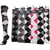 Ladies Over Knee High Argyle Sock