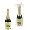 Champagne Bottle Candle - Black