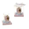 Praying Baby Angel Poly Resin Candle Set - Pink