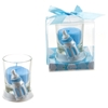 Baby Bottle Poly Resin Candle Set - Blue