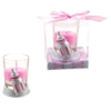 Baby Bottle Poly Resin Candle Set - Pink