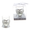 "Heart ""Love"" Poly Resin Candle Set - White"