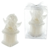 Baby Angel In Deep Thoughts On Column Candle - White