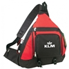 """16"""" Deluxe Poly Body Backpack - Red Black"""