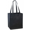 Non Woven Tote With Fabric Covered Bottom - Navy