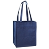 Non Woven Tote With Fabric Covered Bottom - Black