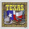 Texas Trivet Tile Flag/Bird/Hat