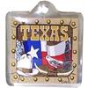 Texas Keychain Lucite Flag/Bird/Hat