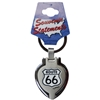 Route 66 Keychain Metal Heart Locket