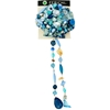 Turquoise Hair Clip With Clustered Beads
