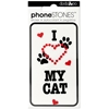 I Love My Cat Phone Stones Stickers