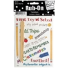 School Sayings Rub-On Transfers