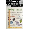 High School Sayings Rub-On Transfers
