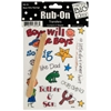 Boys Only Sayings Rub-On Transfers